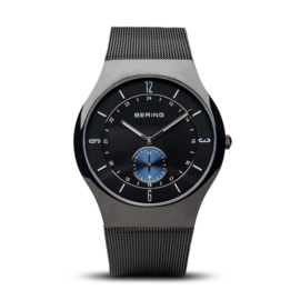 Bering horloge classic polished zwart blauw 11940-228