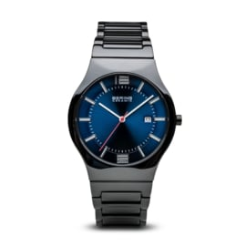 Bering horloge ceramic Zwart blauw 31739-747