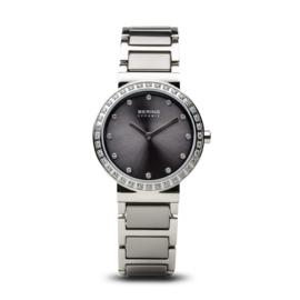 Bering horloge ceramic Grijs zilver 10729-703