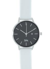 Tyno dames horloge zilver zwart 101-002 W