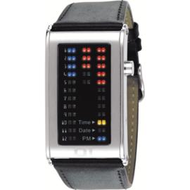 The One Binary led horloge Ibiza ride Leather