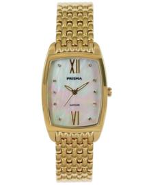Prisma Dames horloge  Precise Pearl Goud P.1962