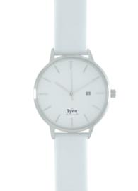 Tyno dames horloge zilver wit 101-001 W