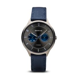 Bering horloge classic brushed titanium Grijs blauw 11539-873