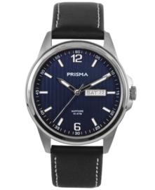 Prisma Heren Horloge Pattern Leather  Blauw P.1661
