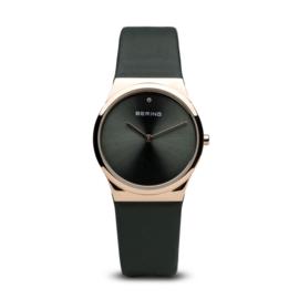 Bering horloge classic polished rosé goud zwart 12130-667