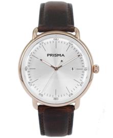 Prisma Retro Heren horloge Dome Mark zilver/goud P.1913