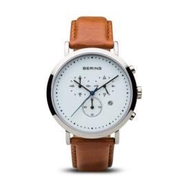 Bering horloge classic polished zilver wit 10540-504