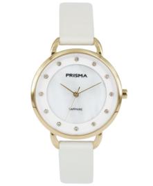 Prisma Dames horloge Rhombic créme P.1937