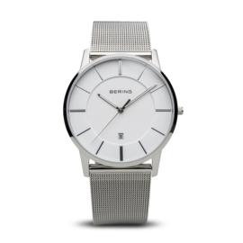 Bering horloge classic polished zilver wit 13139-000