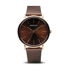 bering horloge classic polished roségold brown 13436-265