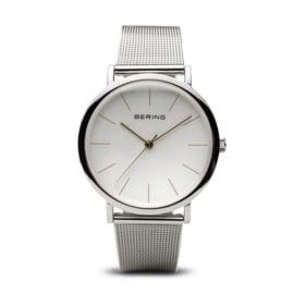 Bering horloge classic polished zilver wit 13436-001