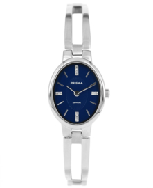 Prisma Dames Horloge  Purify Oval Dimond Blauw P.1683