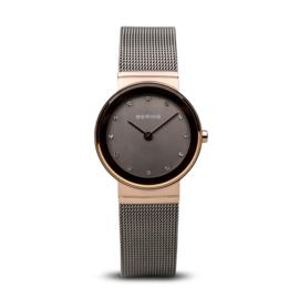 Bering horloge classic polished rosé goud grijs 10126-369
