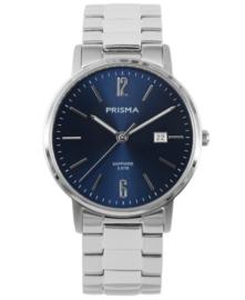 Prisma Heren Horloge Slimline MR. Steel Blauw P.1471
