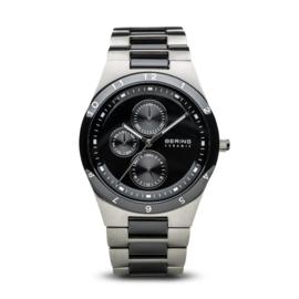 Bering horloge ceramic Zwart zilver 32339-742