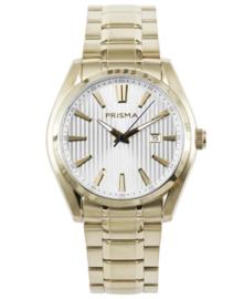 Prisma Heren horloge Pattern Class goud P.1832