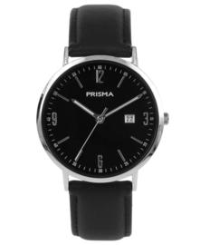 Prisma Uniseks Horloge Slimline Mr. Zilver/Goud P.1502