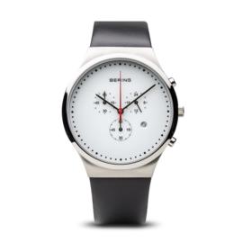 Bering horloge classic polished zilver wit 14740-404