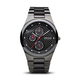 Bering horloge ceramic Zwart rood 32339-782