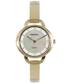 Prisma dames horloge Simplicity oval Goud P.1467