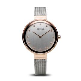 Bering horloge classic polished rosé goud zilver 12034-064