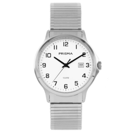 Prisma Herenhorloge All stainless steel Rekband zilver/wit P.1701
