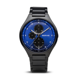 Bering horloge classic brushed titanium zwart blauw 11741-727