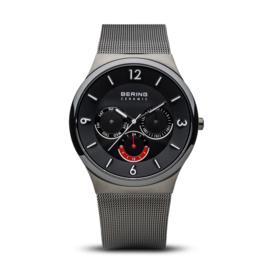 Bering horloge ceramic Zwart rood 33440-077