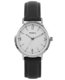 Prisma Dames horloge slimline MRS. zilver/wit P.1506