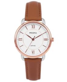 Prisma Dames horloge Curve Rosé goud P.1973