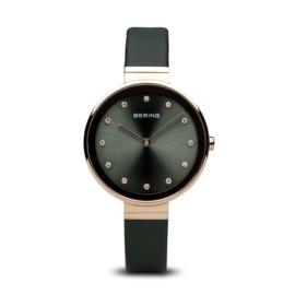 Bering horloge classic polished roségoud zwart 12034-667