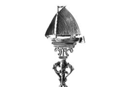Zilveren geboortelepel Botter / Skûtsje klein