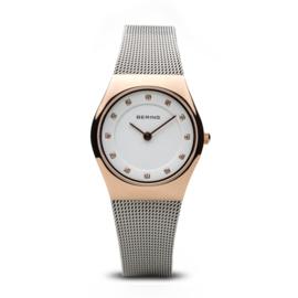 Bering horloge classic polished rosé goud zilver 11927-064