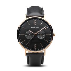 Bering horloge classic pollished roségold/Black  14240-166