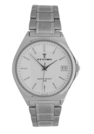 Ottimo heren horloge zilver wit  OT-WPA0832