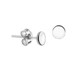 Gerhodineerd zilveren oorknopjes rond