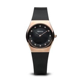 Bering horloge classic polished rosé goud bruin 11927-166