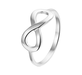 Gerhodineerd zilveren Ring Infinty