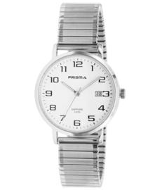 Prisma Heren horloge Regant Belief zilver/wit Rekband P.1750