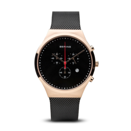 Bering horloge classic polished roségold black 14736-166