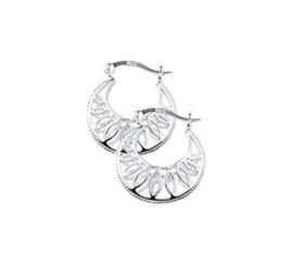zilveren oorringen opengewerkt filligrain