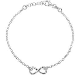 Gerhodineerde zilveren armband voor meisjes Infinity