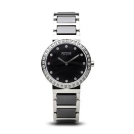 Bering horloge ceramic Zwart zilver 10729-702