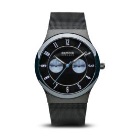 Bering horloge ceramic Zwart blauw  32139-227