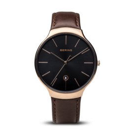 Bering horloge classic polished roségold brown 13338-562