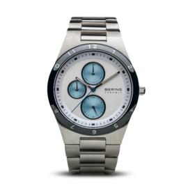 Bering horloge ceramic wit blauw  32339-707