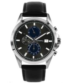 Prisma Heren horloge Traveller classic blauw P.1793