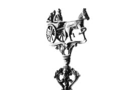 Zilveren geboortelepel Sjees