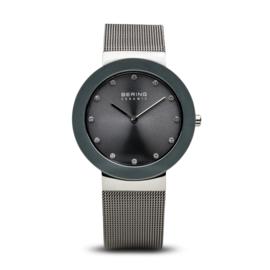 Bering horloge ceramic Grijs Zilver 11435-389
